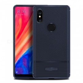 Stylish Protective Lichee Pattern Back Case for Xiaomi Mix 2S - Blue