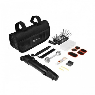ROCKBROS Mini Bike Bicycle Repair Tool Box Kit Set, Multitool Cycling Tire Repair Service Tool