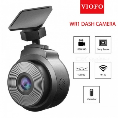 VIOFO WR1 Capacitor IMX323 Sensor Wi-Fi HD 1080P 30fps Car Dash Camera DVR Recorder - Black