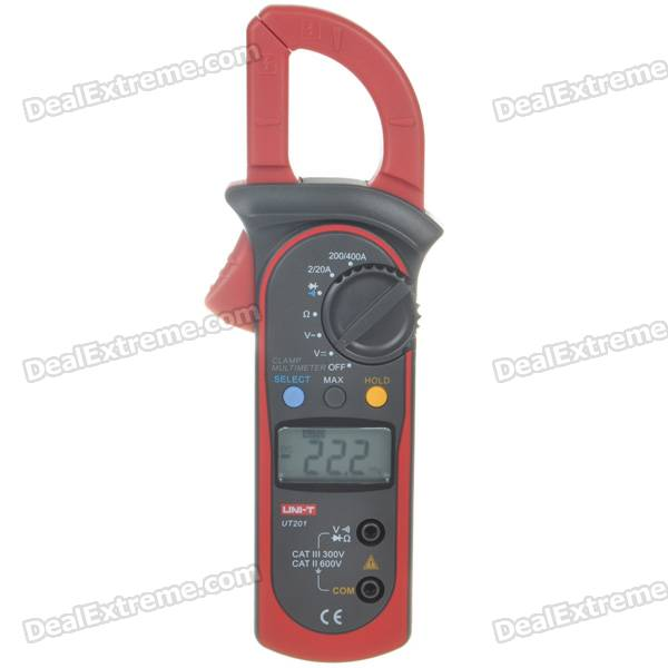 "UNI-T UT201 1.5"" LCD Handheld Digital Clamp Multimeter (Voltage + Current + Resistance / 2*AAA)"