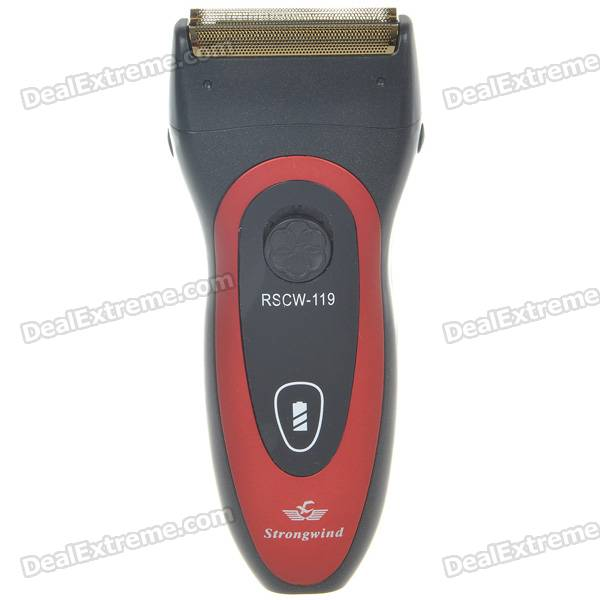 Rechargeable Electric Shaver - Black + Red (AC 220V) continuous band sealer 110v and 220v voltage avaliable