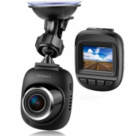 ESAMACT Mini LCD Car DVR Camera Recorder with FHD 1080P, Night Vision, Loop Recording for Cars