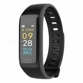V7 Color Screen Smart Bracelet with Calorie, Sleep Monitoring, IP67 Waterproof, Pedometer - Black