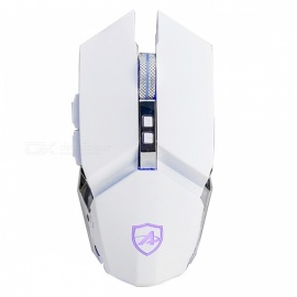 AJAZZ AJ110S USB Optoelectronic Game Mechanical Mouse for Desktop PC Notebook - White