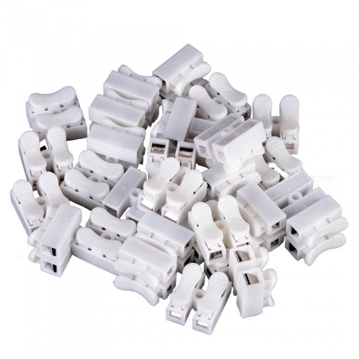 30pcs lot 2 Pins Electrical Cable Connectors CH2 Quick Splice Lock Wire