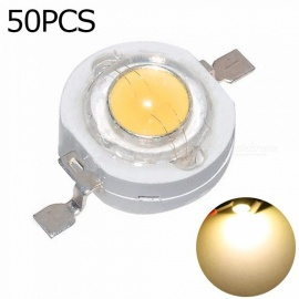 YouOKLight 50Pcs High Power LED Lamp Beads, 3000K Warm White Super Bright Intensity SMD COB Lamp Emitter (DC 3.2V-3.4V 1W)