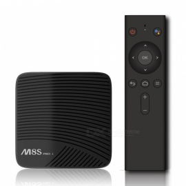 M8S PRO L smart android 7.1 TV box amlogic S912 octa-core 4K reproductor de TV inteligente con control remoto por voz - 3GB + 16GB (enchufe de la UE)