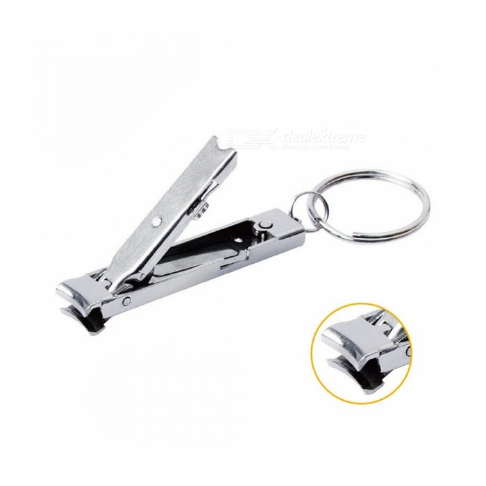 Munkees Utra-thin Nail Clipper, Stainless Steel Mini Keyring ...