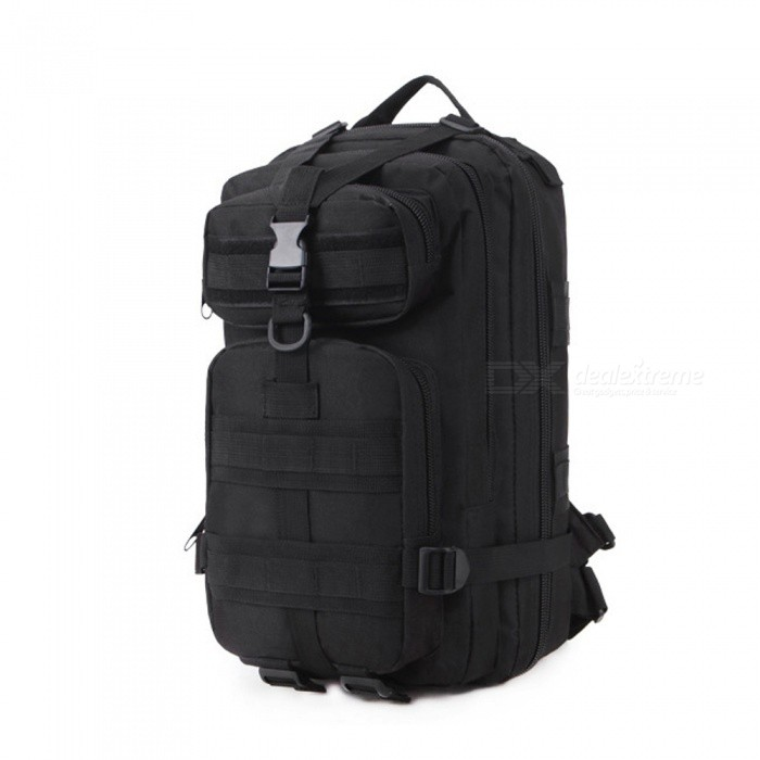 Outdoor Sports Military Fans Mountaineering Hiking 900D Oxford Cloth Tactical Backpack - Black