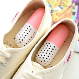 Capsules Style Sterilizing Deodorizing Desiccant Shoes Drying Deodorant - Pink (2 PCS)