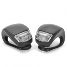 2-LED 3-Mode White + Red Light Fog Cyklo Lights-černý (2 ks)