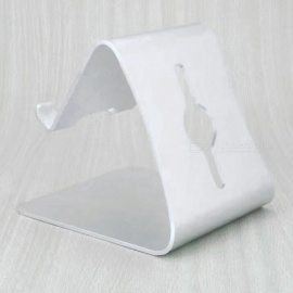 Universal Aluminum Alloy Desktop Mount Stand Holder for Tablet - Silver