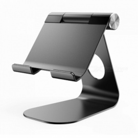 Universal Flexible Aluminum Alloy Desktop Mount Holder for IPAD, Mobile Phone - Black