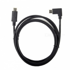 CY UC-066-RI 90 Degree Right Angled Type-C to USB-C 2.0 Data Cable 1.5m for Laptop & Phone