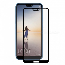 Hat-Prince Full Coverage Tempered Glass Film Protector for Huawei P20 Lite - Black