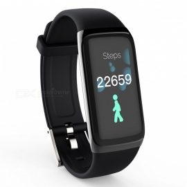 Amy Smart Bracelet Touch Color Screen Sports Wrist Watch Heart Rate Blood Pressure Monitoring - Black