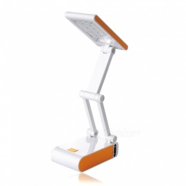 Creative 3W Rechargeable Folding 14-LED Desk Table Lamp for Student Learning, Reading - Yellow