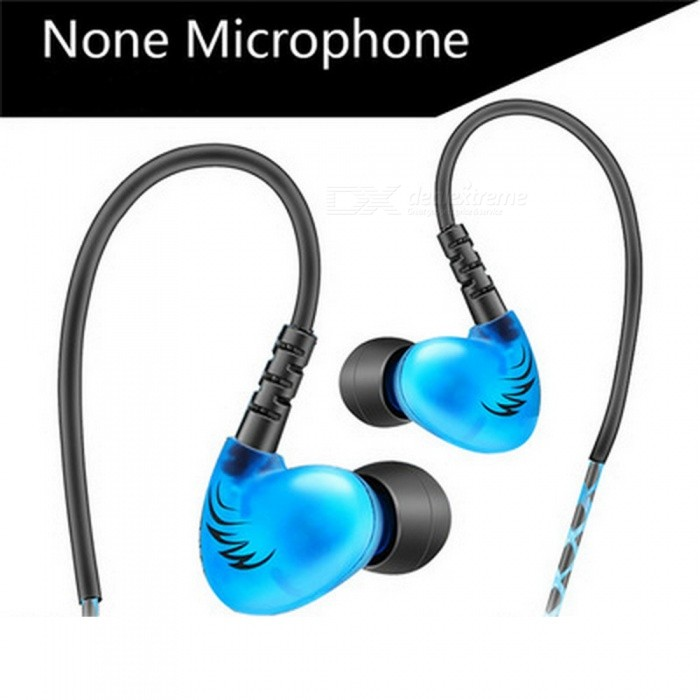 QKZ S6 Sports Running Earphone Mobile Phone Earphones - Blue (Without Microphone)