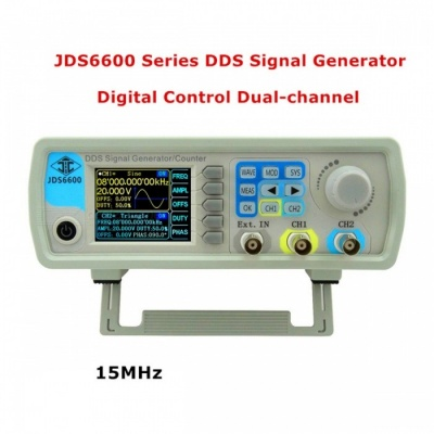 RD JDS6600 Series Digital Control Dual-Channel DDS Function Signal Generator Frequency Meter Arbitrary Sine Waveform