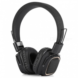 BT-019 Folding Wireless Bluetooth V4.2 Headband Headphone with Volume, Phone Control - Black