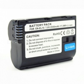 EN-EL15 2550mAh Camera Battery for Nikon Black