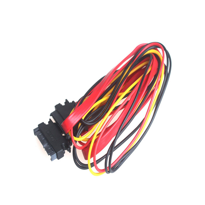 все цены на SATA 15+7 Pin Male to Female Data Power Cable (1M-Length) онлайн