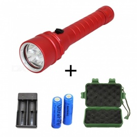 ZHAOYAO 3-LED L2 Super Bright Rechargeable Diving Flashlight w/ Battery + Charger