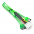 SATA 15+7 Pin Female to IDE 4-Pin Male + SATA 7-Pin Female Adapter Cable (50CM-Length)
