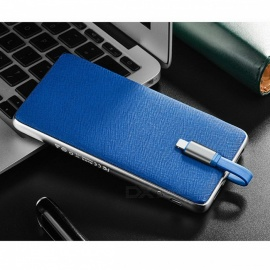 HOCO J1 Portable 10,000mAh External Mobile Battery Charger Li-Polymer Power Bank with Dual USB - Blue