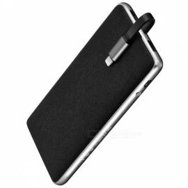 HOCO J1 Portable 10,000mAh External Mobile Battery Charger Li-Polymer Power Bank with Dual USB - Black