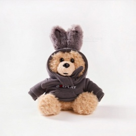 Cute Bear Style Ultra-Large Capacity 10,000mAh Power Bank Doll - Grey