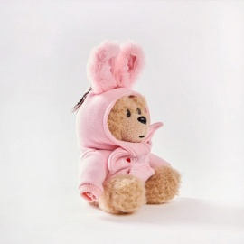 Cute Bear Style Ultra-Large Capacity 10,000mAh Power Bank Doll - Pink