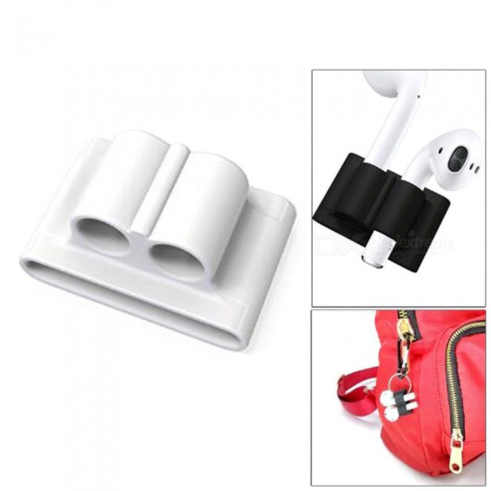 79d5be4baad Portable Anti-lost Silicone Wireless Earphone Carrying Strap Carry Case  Skin Cover for Apple AirPods Air Pods Accessory - White - Free Shipping -  ...