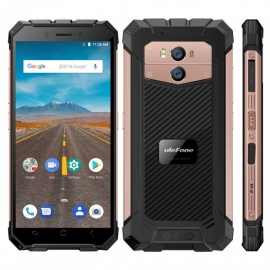 "Ulefone Armor X Android 8.1 MT6739 Waterproof  IP68  5.5"" 18:9 5500mAh Wireless Charge 4G Phone w/ 2GB RAM 16GB ROM - Rose Gold"