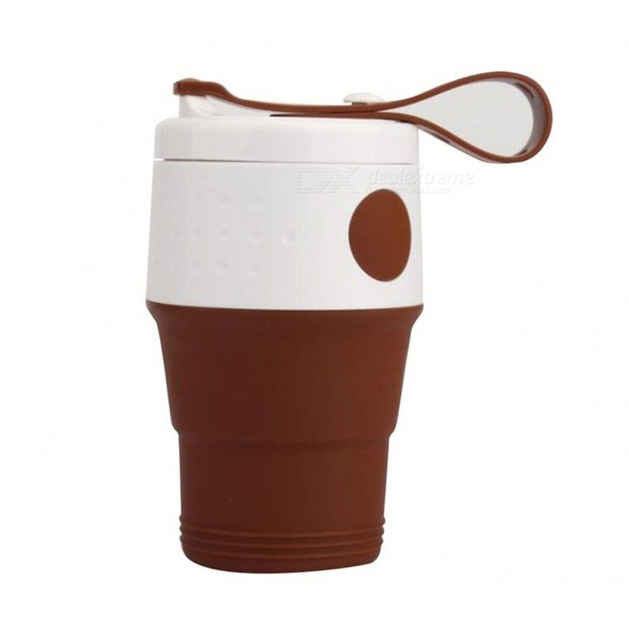 Collapsible Silicone Cup Foldable Travel Coffee Mug Camping Mug with Lid for Outdoor Camping Hiking Picnic