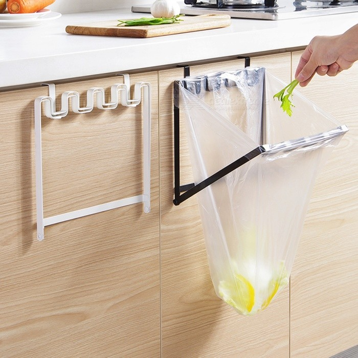 Foldable Sturdy Iron Over Cabinet Door Hanging Garbage Bag