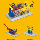 1303 44PCS Small Bricks Mechanical Engineering 3 In 1 Transform Shooting Machine Model Collection Gift Toy