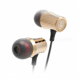 Original QKZ DM3 Supper Bass In-ear Wired HiFi Earphones Headset Noise Cancelling - Gold (Without Microphone)