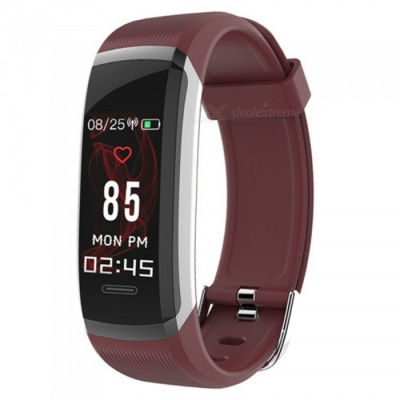GT101 IP67 Waterproof Color Screen Smart Bracelet with Continuous Heart Rate Monitor, Pedometer, Calorie Consumption - Red