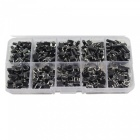 ESAMACT 200PCS 6mm x  6mm Touch Button Switch Tact Switch Dip Vertical Micro Switches Set - Black