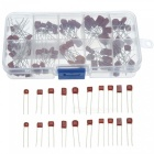 ESAMACT100pcs Metallized Polyester Film Capacitors Assortment Kit, 10nF ~ 470nF High Precision and Stability