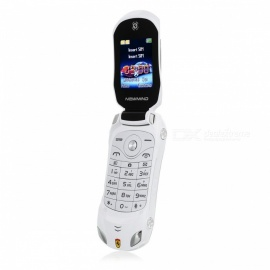F15 Flip Cellphone 1.8Inch 1500mAh MP3 Player FM Radio Recorder Dual Sim Car Model Phone - White