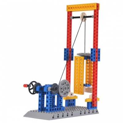 1304 68PCS Engineering Series Elevator Lifts Building Blocks Mechanical Assembly Model Toys for Kids