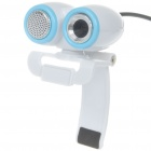 Compact 1.3MP PC USB Webcam with Built-in Microphone - White