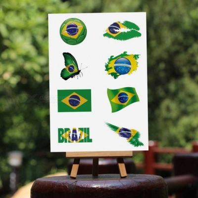 2018 World Cup England USA Australia Russia Brazil France Germany Argentina Flag Tattoo Sticker