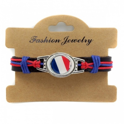 2018 Russia World Cup Retro Leather National Flag Style Bracelet
