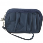 Waterproof Cloth Make-up/Cosmetic Handbag with Strap (Dark Blue)
