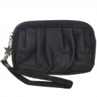 Waterproof Cloth Make-up/Cosmetic Handbag with Strap (Black)