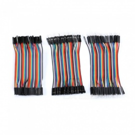 ZHAOYAO 120Pcs 40P 30cm Male to Male, Female to Male, and Female to Female Dupont Cable Connector Breadboard Jumper Wires