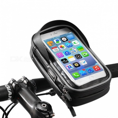 ROCKBROS Bike Bicycle Phone Bag, 6 Inches Rainproof TPU Touch Screen Cell Phone Holder